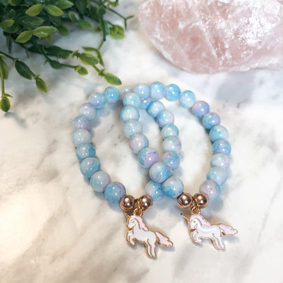 Cotton Candy Unicorn Charm Bracelet