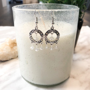 Round Crystal Chandelier Earrings - Hidden Gems by Raquel