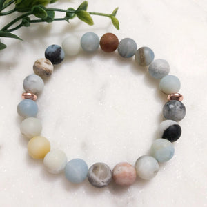 Amazonite & Hematite Stacker Bracelet - Hidden Gems by Raquel