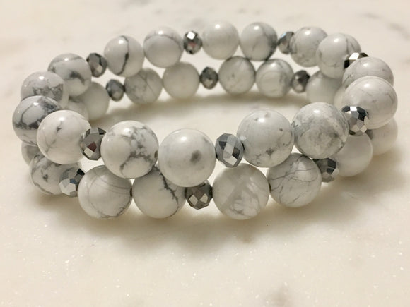 Howlite Bracelet - Hidden Gems by Raquel
