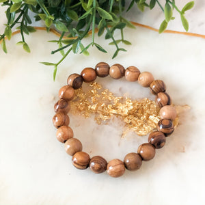Olive Wood Stackable Bracelet - Hidden Gems by Raquel
