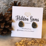 Tear Drop Druzy Earrings - Hidden Gems by Raquel