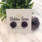 Round Druzy Earrings - 15mm