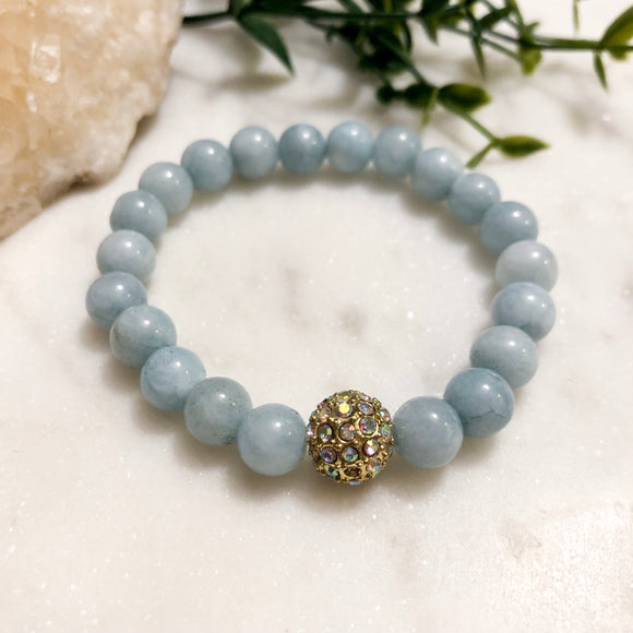 Aquamarine Jade Sparkle Bracelet - Hidden Gems by Raquel