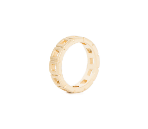 Sample Sale Ring - Square Eternity Band