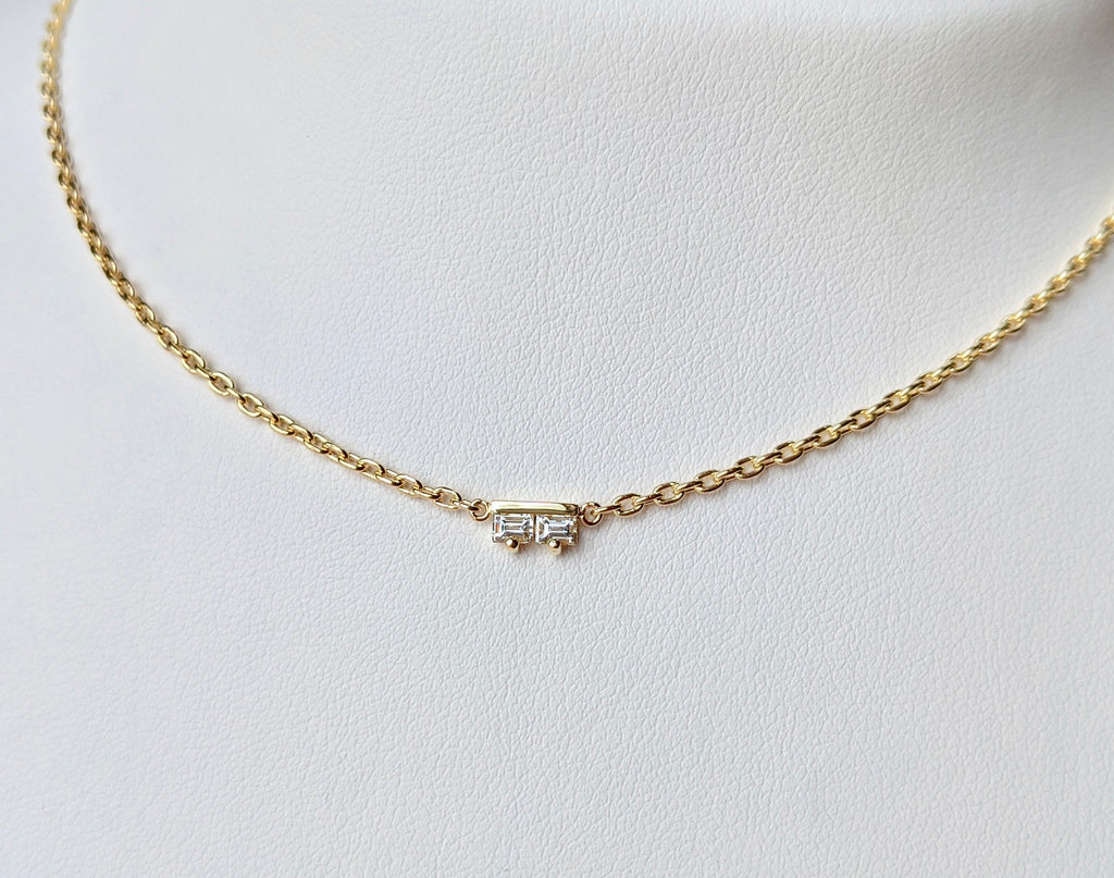Sideline Baguette Necklace