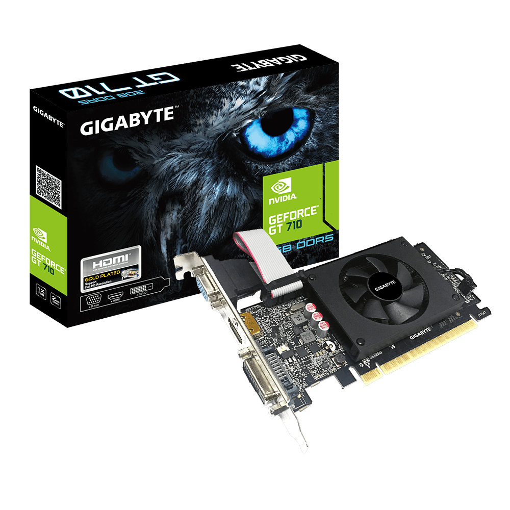 Gigabyte NVIDIA GeForce GT710 2GB VGA DVI HDMI Gaming Graphic Card
