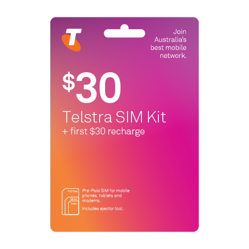 Telstra Pre-Paid SIM Starter Kit $30