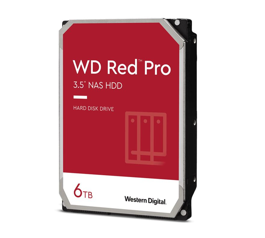 "WD Red Pro NAS Storage,3.5"",6TB,227MB,SATA 6Gbps 5YRS"
