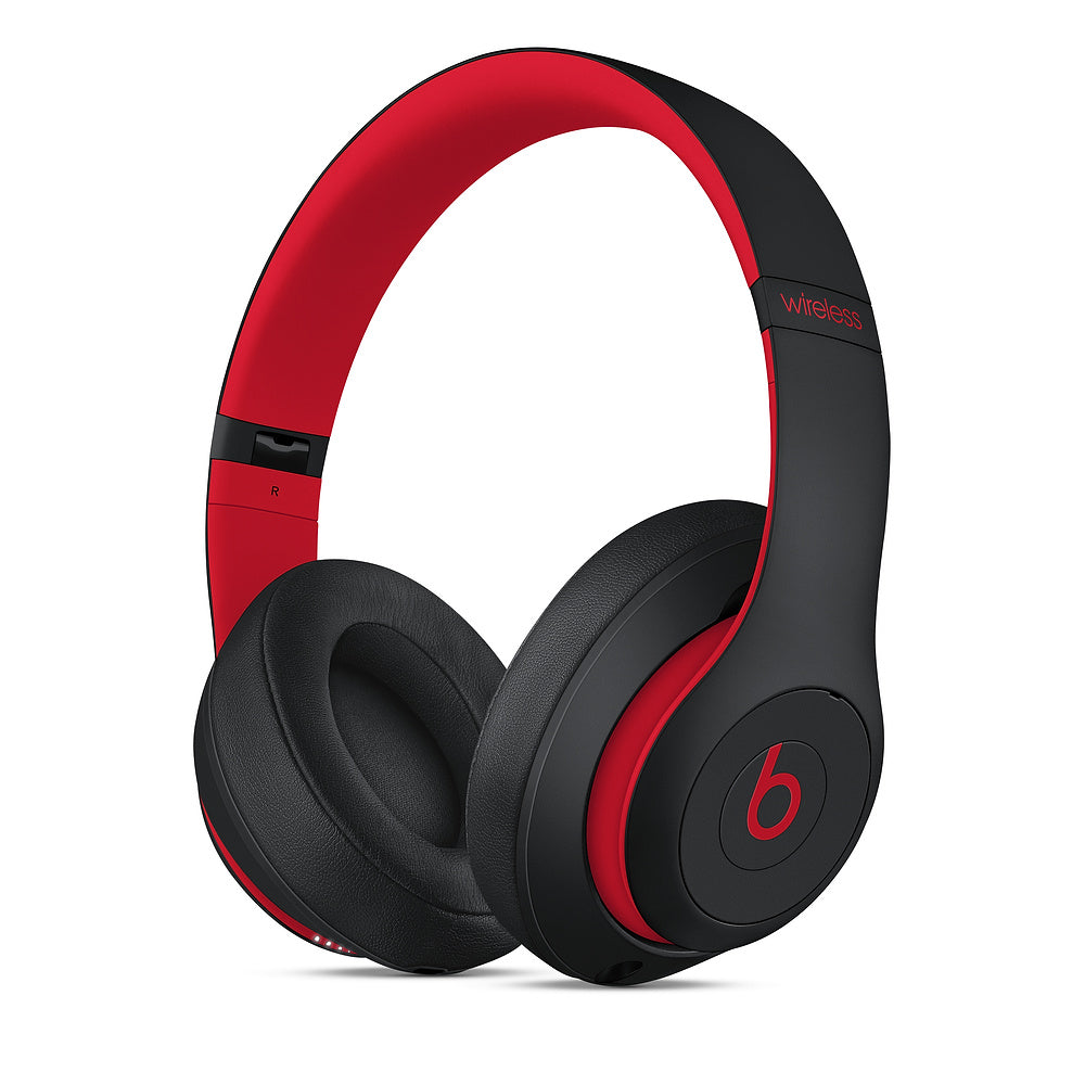 Beats Studio3 Wireless Over‑Ear Headphones - Black/Red