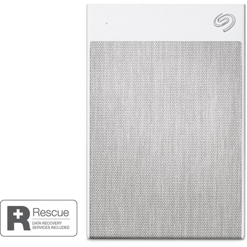 Seagate 2TB Ultra Touch Portable Hard Drive (White)