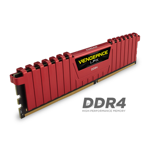 Corsair Vengeance LPX 8GB DDR4 DRAM 2666MHz C16 Memory Kit - Red