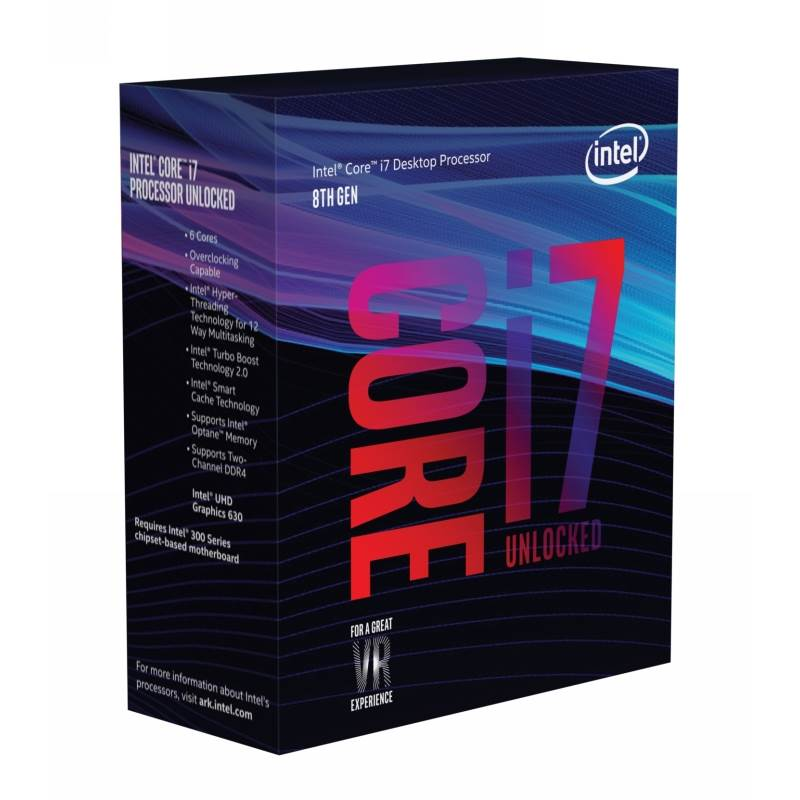 Intel Core i7-8700K Processor (12M Cache, up to 3.70 GHz), LGA1151