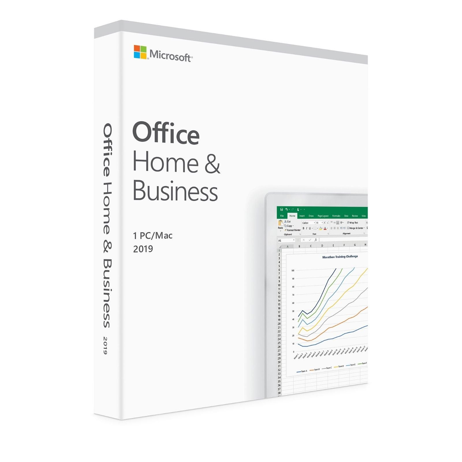 Microsoft Office 2019 Home & Business for PC & Mac Medialess