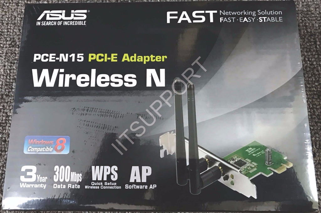 ASUS PCE-N15 Wireless N 300Mbps PCI-E Adapter