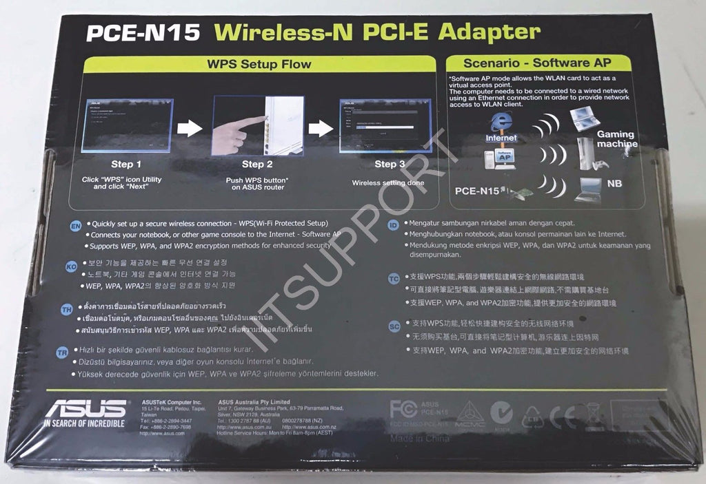 ASUS PCE-N15 Wireless N 300Mbps Internal Card