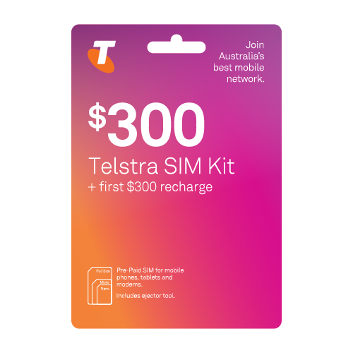 Telstra Pre-Paid SIM Starter Kit $300