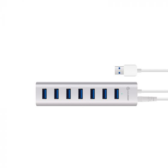 ALOGIC 7 Port USB Hub - Aluminium Unibody with Power Adapter - Prime Series