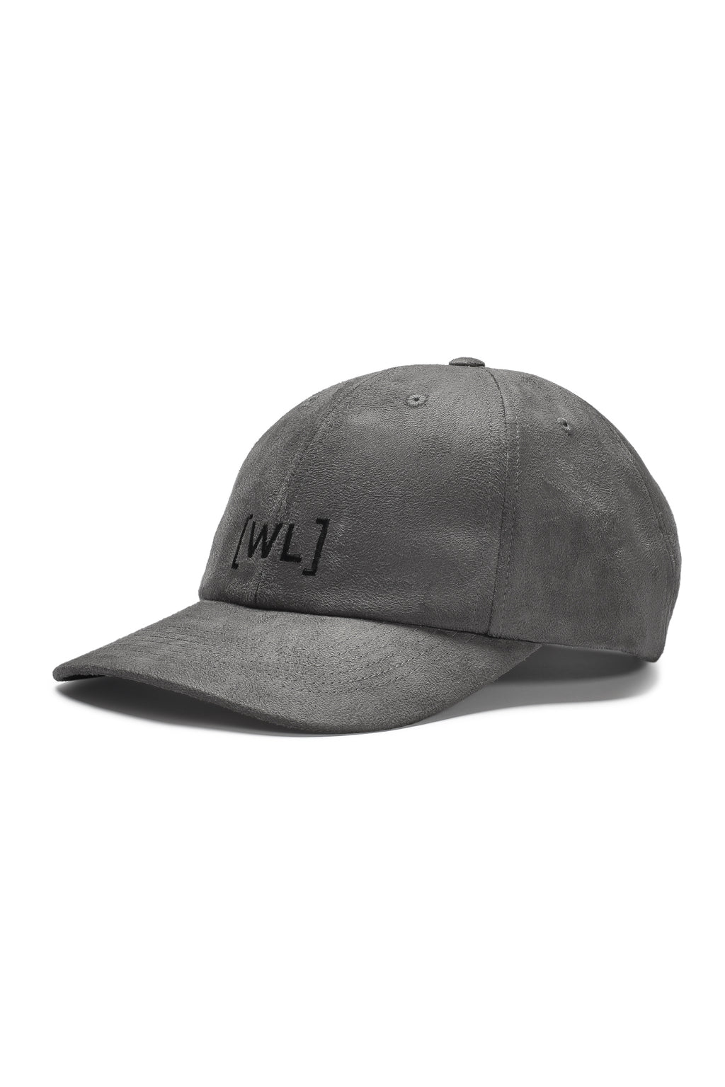 Written Letters Suede Grey Logo Cap Side