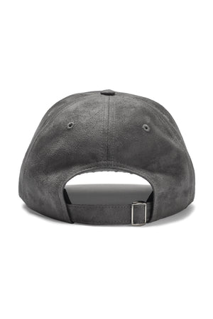 Written Letters Suede Grey Logo Cap Back