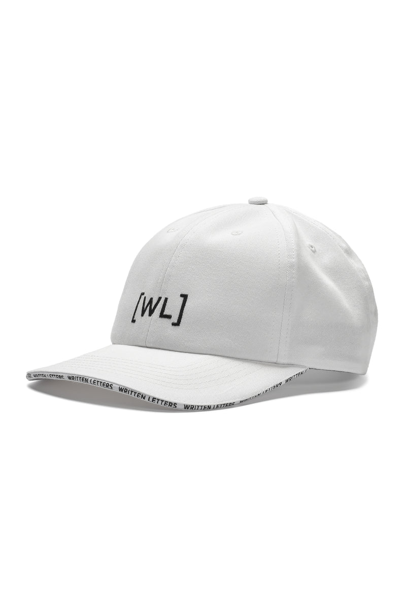 Written Letters White Sandwich Logo Cap Side