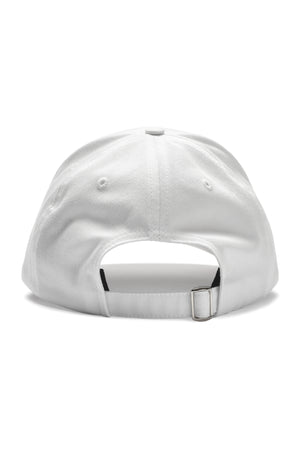 Written Letters White Logo Cap Back