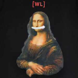 Original 'Mona Lisa' Artwork Reproduction Print T-Shirt Black