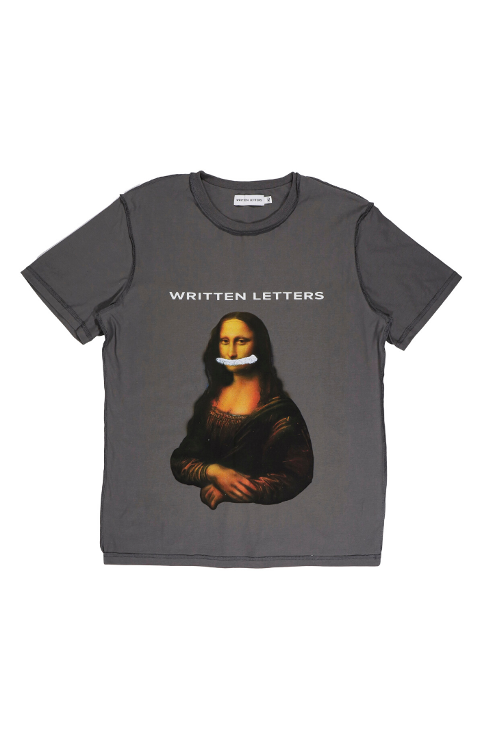Original 'Mona Lisa' Artwork Reproduction Print T-Shirt Grey