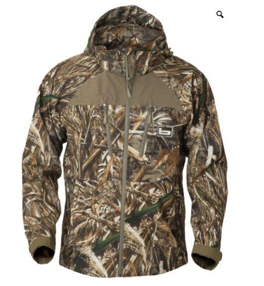 Banded Feather-Stretch Shell Jacket MAX5
