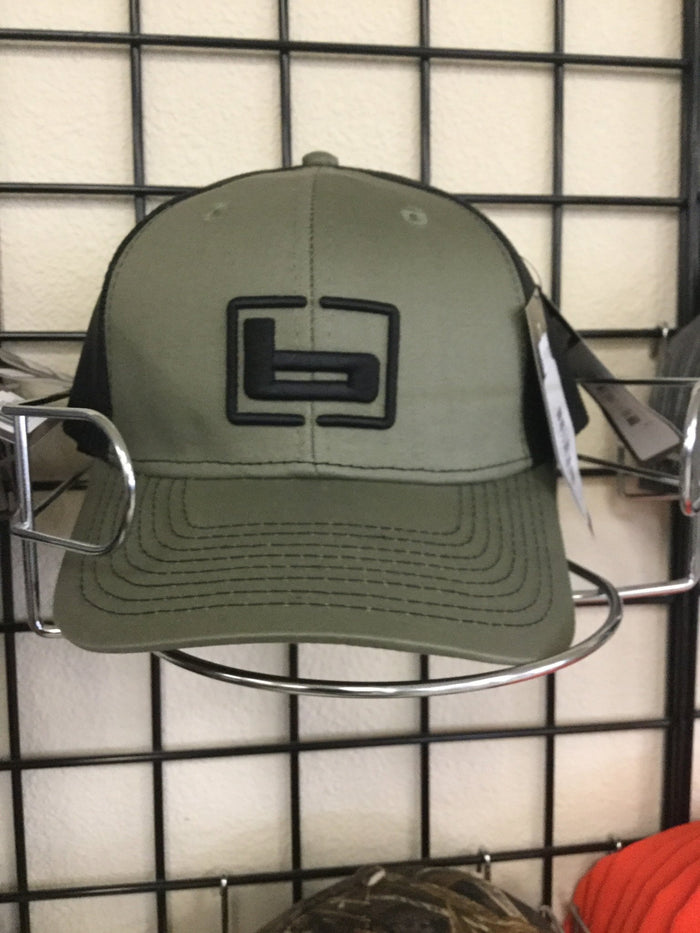 Banded Olive green Hat