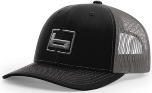 Banded Trucker Snapback Cap Black/Charcoal - Pacific Flyway Supplies