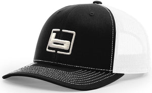 Banded Trucker Snapback Cap Black/White - Pacific Flyway Supplies