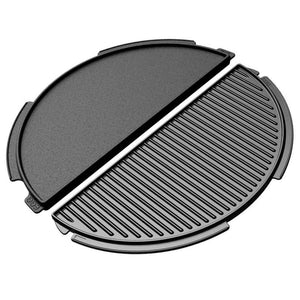 Big Green Egg Half Moon Cast Iron Plancha Griddle for 2XL, XL and Large EGGs - Pacific Flyway Supplies