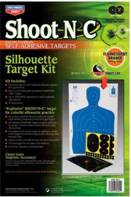 Birchwood Casey 34602 Shoot-N-C Silhouette Kit Paper Black/Blue - Pacific Flyway Supplies