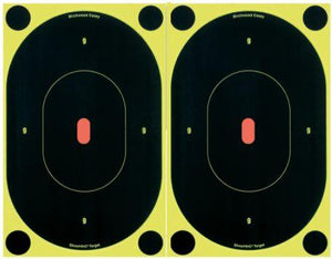 "Birchwood Casey 34710 Shoot-N-C Self-Adhesive Paper 7"" Silhouette Yellow Target Paper w/Black Target & Red Accents 6 Per Pack - Pacific Flyway Supplies"