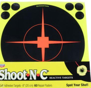 "Birchwood Casey 34814 Shoot-N-C Bullseye Paper Target 8"" 5 Per Pack - Pacific Flyway Supplies"