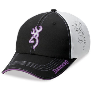 Browning Chelsie Black/Purple Hat - Pacific Flyway Supplies