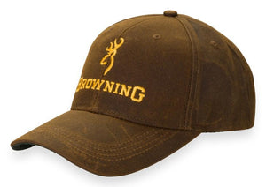 Browning Dura-Wax Hat with Corporate Logo - Brown - Pacific Flyway Supplies