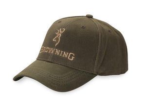 Browning Dura Wax Solid Olive Hat - Pacific Flyway Supplies