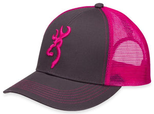 Browning Flashback Charcoal/Neon Pink Hat - Pacific Flyway Supplies