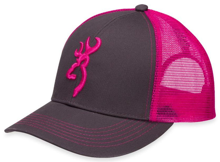 Browning Flashback Charcoal/Neon Pink Hat