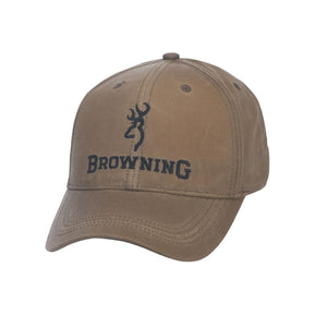 Browning Lite Wax with Logo in Khaki Hat - Pacific Flyway Supplies