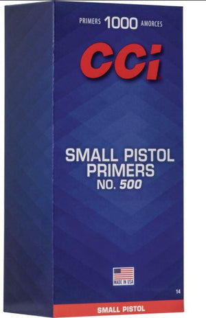CCI Small Pistol Primers No. 500 - 1000 Count - Pacific Flyway Supplies