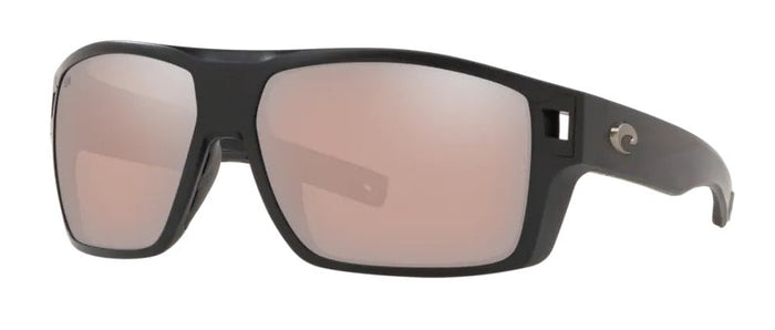 Costa Diego Sunglasses - Matte Black w/ Copper Silver Lens
