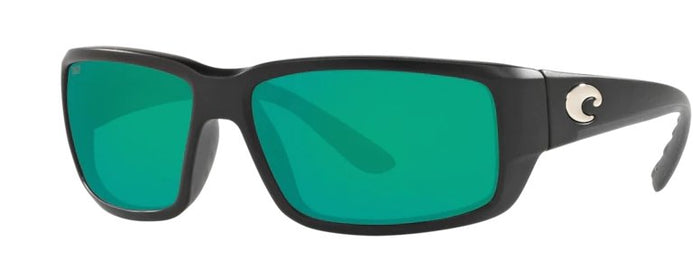 Costa Fantail Sunglasses - Matte Black w/ Green Mirror Lens