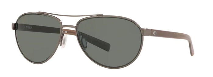 Costa Fernandina Sunglasses - Brushed Gunmetal w/ Gray Lens