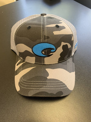 Costa Gray Camo Hat - Pacific Flyway Supplies