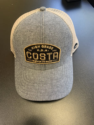 Costa Grey Denim Patch Hat - Pacific Flyway Supplies