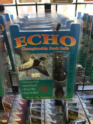 Echo Championship Duck Calls Timber Double Reed - Pacific Flyway Supplies