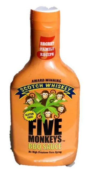Five Monkeys BBQ Sauce - Scotch Whiskey - Pacific Flyway Supplies